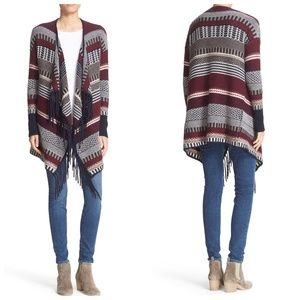 Autumn Cashmere Fair Isle Fringed Cardigan